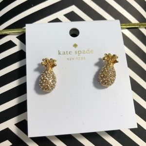Kate Spade pineapple studs